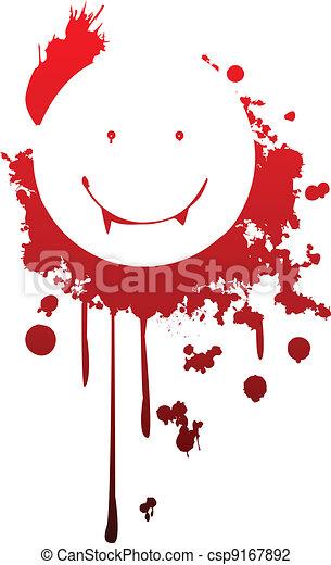 Smiling vampire symbol - csp9167892