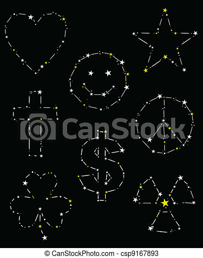 Eight constellation shapes - csp9167893