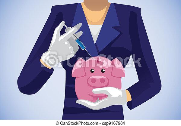 Healthcare savings concept - csp9167984