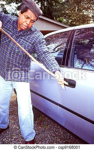 Car vandalism. - csp9168001