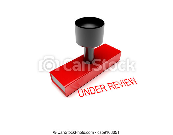 under review rubber stamp 3d illustration  - csp9168851