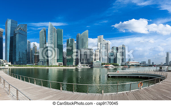 Singapore skyline panorama - csp9170045