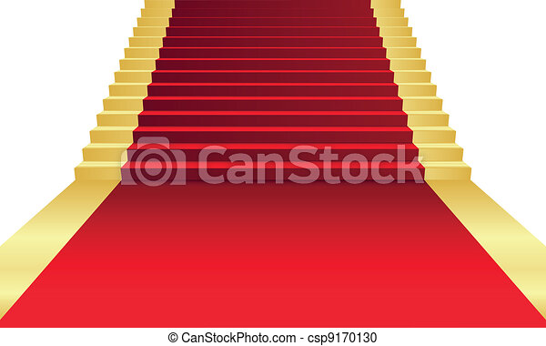 Vector Clipart of Vector illustration of red Carpet csp9170130 ...