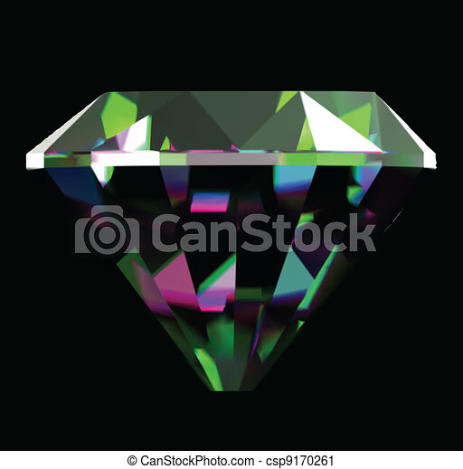 Shiny and bright diamond. Vector - csp9170261