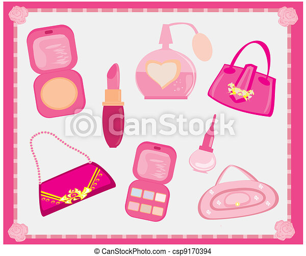 Vector , accesorios, Moda, vector, Conjunto