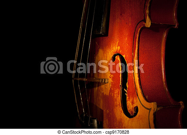 violin detail silhouette - csp9170828