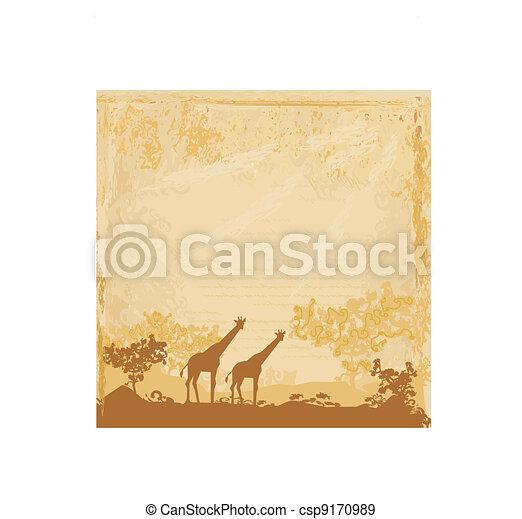 African fauna and flora - csp9170989