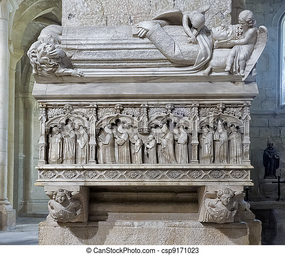 Monastery of Santa Maria de Poblet royal tomb - csp9171023
