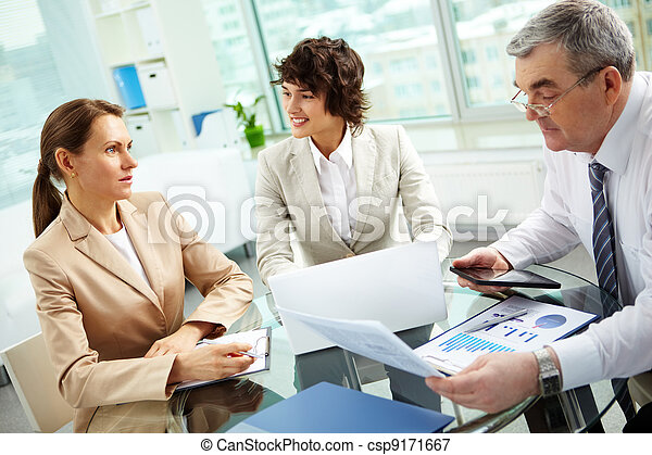 Discussing business matters - csp9171667