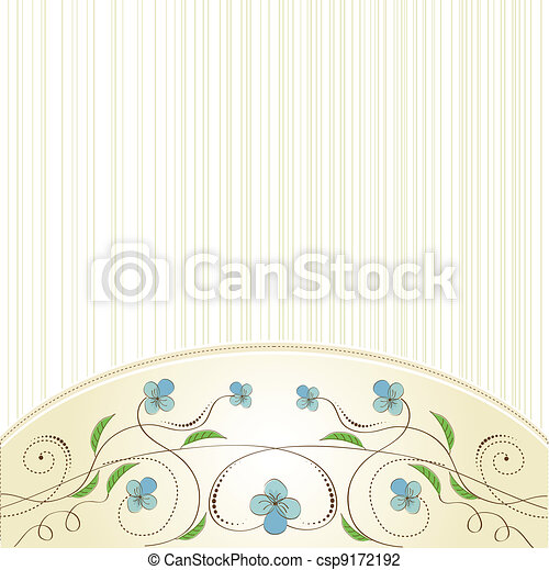 customizable floral background - csp9172192