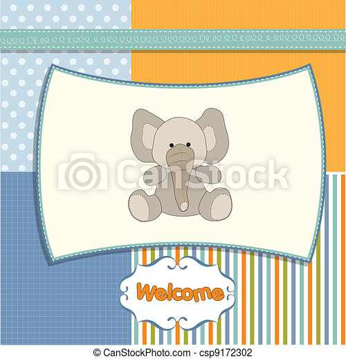 new baby arrived card  - csp9172302