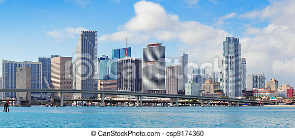 Miami skyscrapers - csp9174360