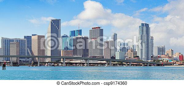 Miami skyscrapers  - csp9174360