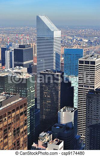 New York City skyscrapers - csp9174480