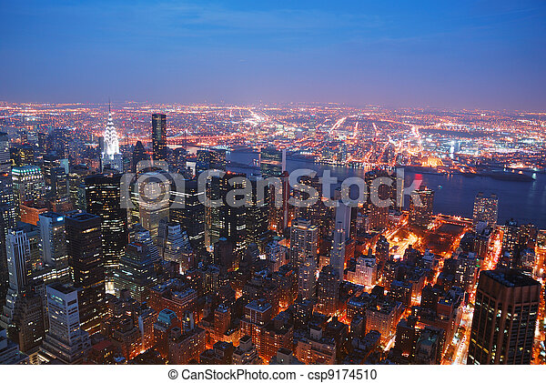 New York City skyline - csp9174510