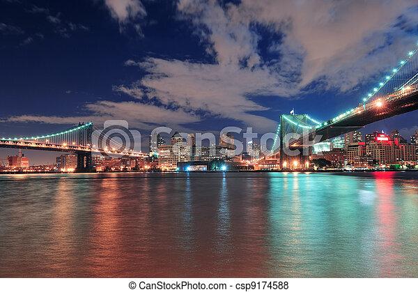 New York City bridges - csp9174588
