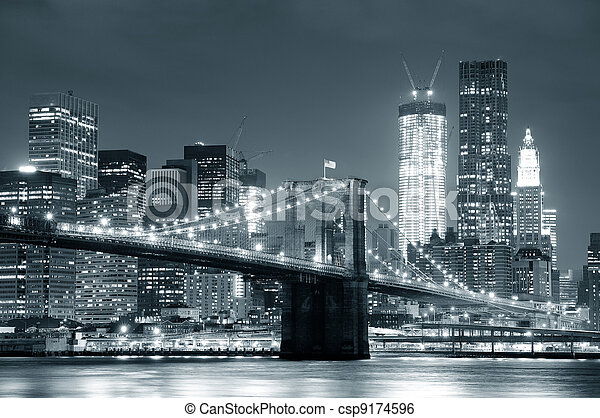 New York City Brooklyn Bridge - csp9174596