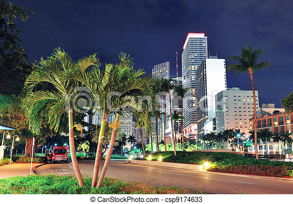 Miami downtown - csp9174633