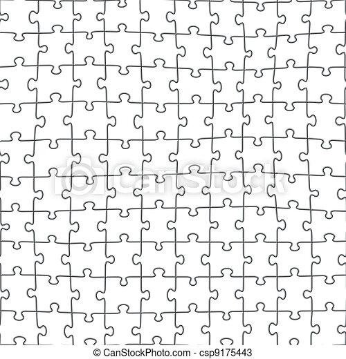 Jigsaw puzzle seamless pattern - csp9175443