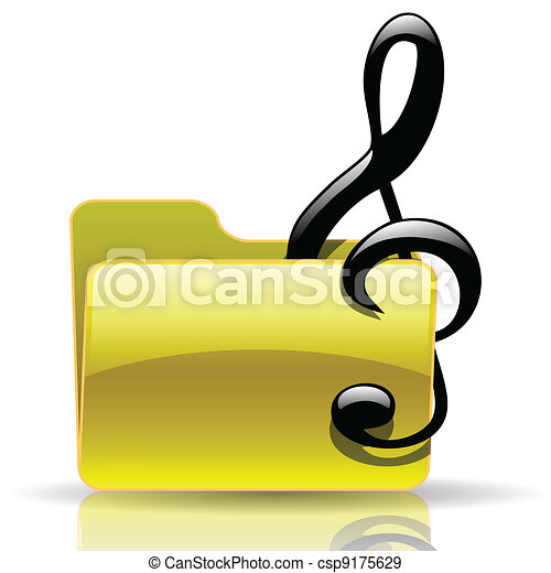 Music folder - csp9175629