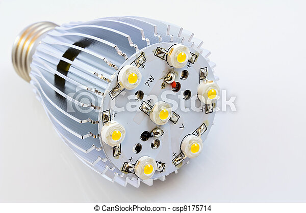 LED light bulbs with 1 Watts SMD chips without cover glass - csp9175714