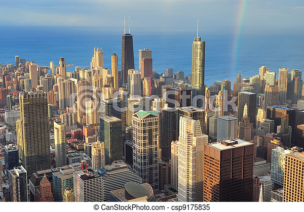 Chicago aerial view - csp9175835