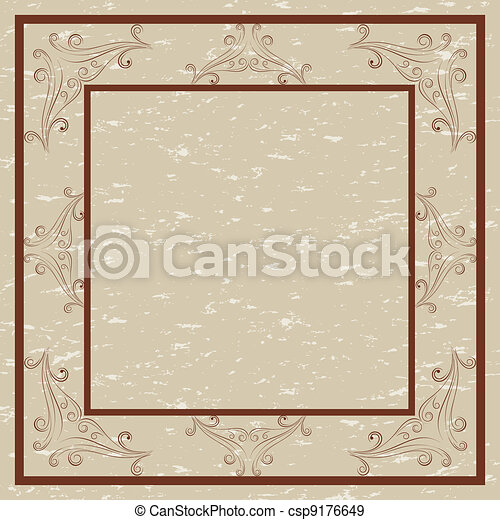 Decorative border and frame - csp9176649