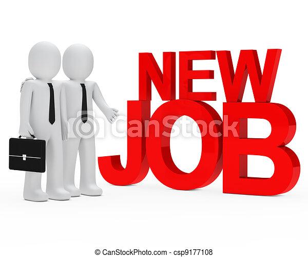businessman new job - csp9177108
