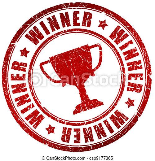 Winner stamp - csp9177365