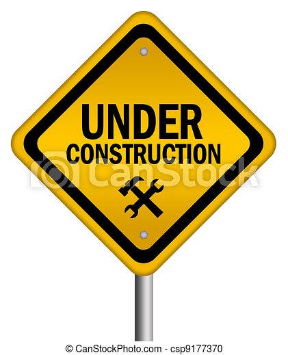 Under construction sign - csp9177370