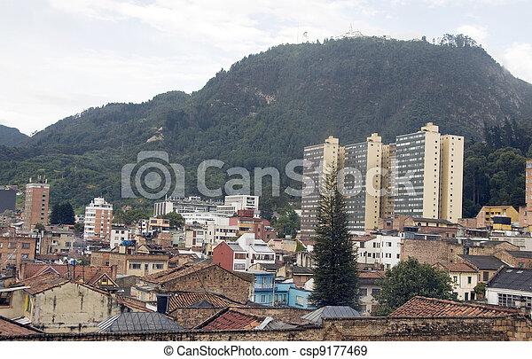 Monserrate La Candelaria architecture Bogota Colombia - csp9177469