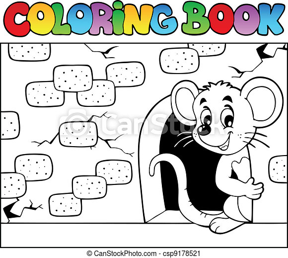 Coloring book with mouse 3 - csp9178521