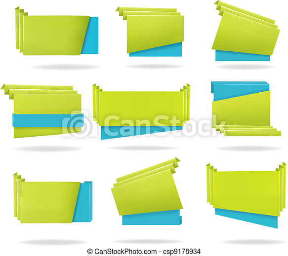 Huge set of colorful origami - csp9178934