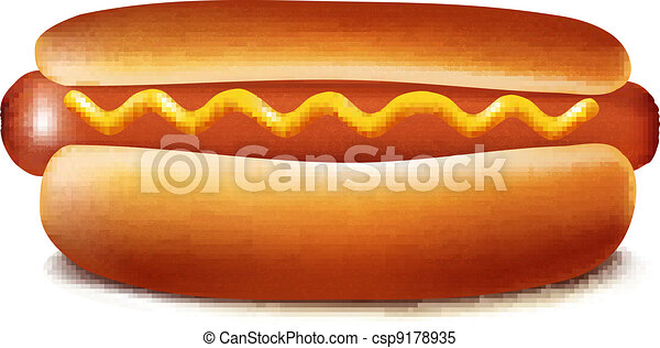 Vector illustration of hot dog - csp9178935