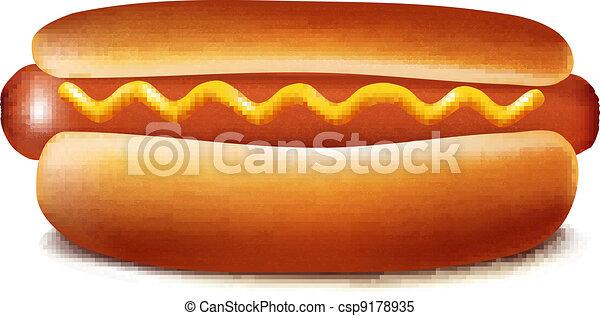 Vector illustration of hot dog - csp9178935