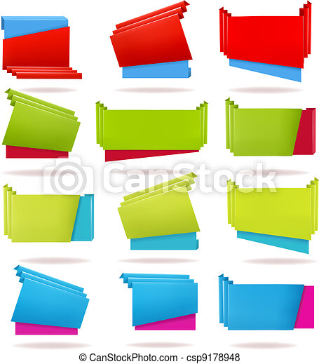 Huge set of colorful origami - csp9178948