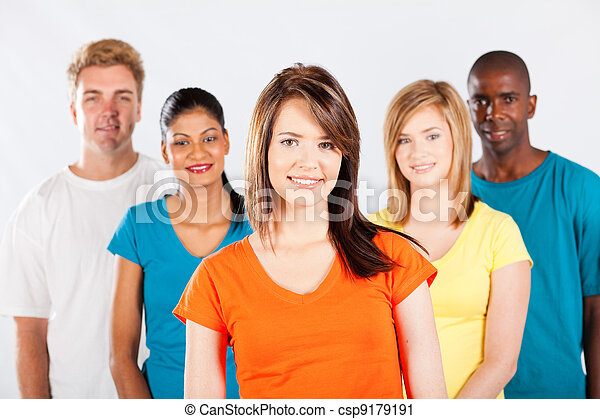 group of multicultural people  - csp9179191