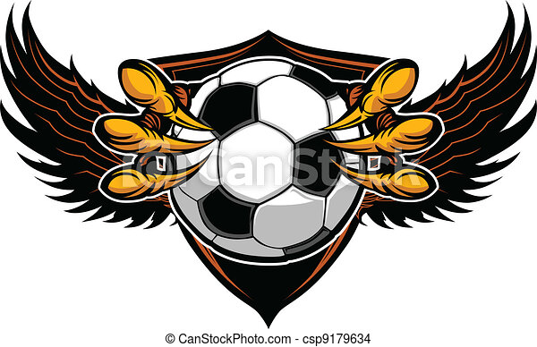Eagle Soccer Talons and Claws Vector Illustration  - csp9179634