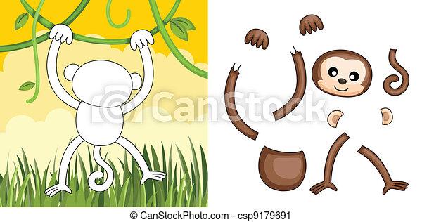 Monkey puzzle - csp9179691