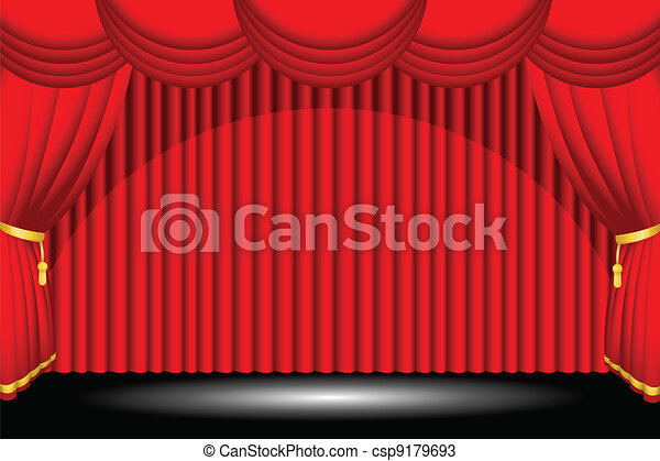 Red stage background - csp9179693