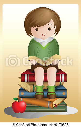 Young student reading - csp9179695
