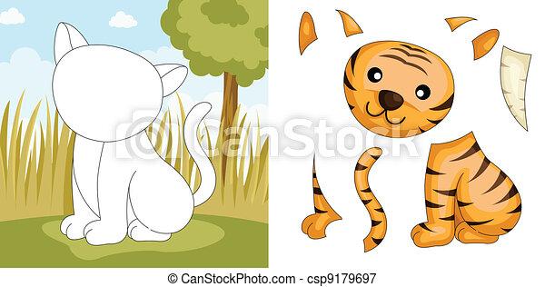 Tiger puzzle - csp9179697
