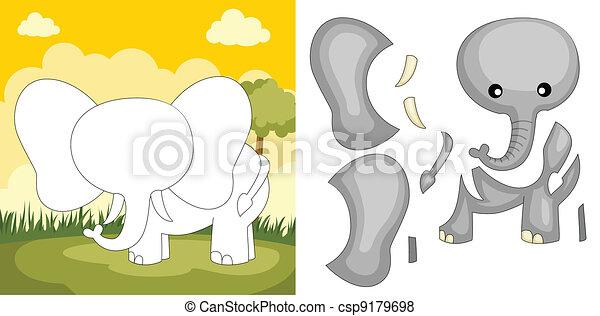 Elephant puzzle - csp9179698