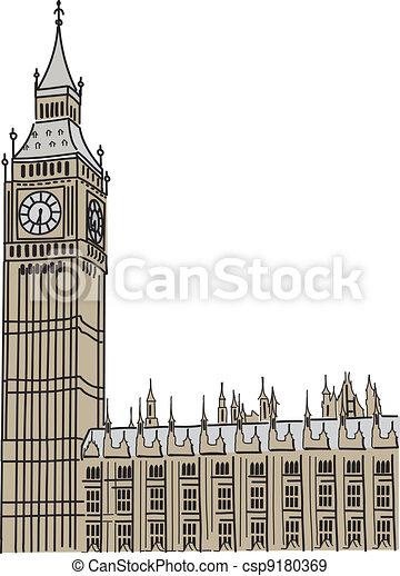 Big Ben in London - csp9180369