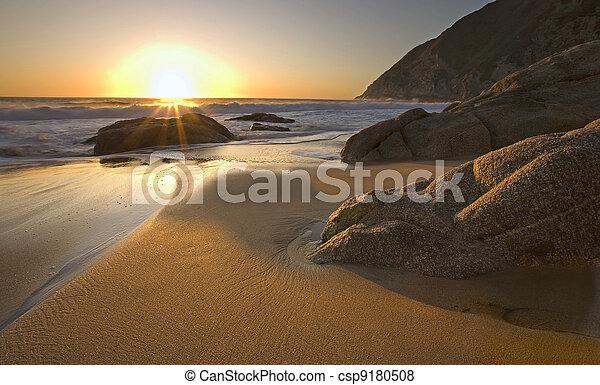Sunset near Pacifica, California - csp9180508
