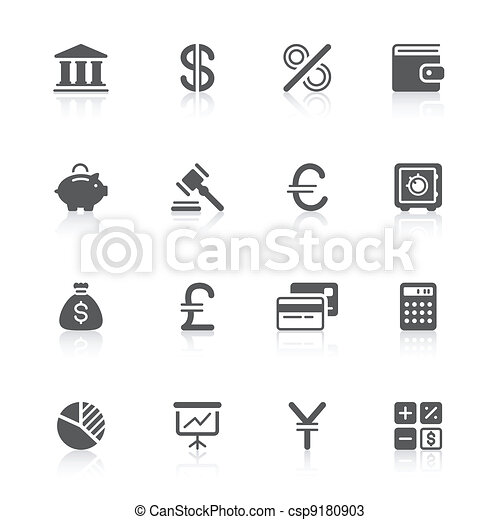finance icons - csp9180903