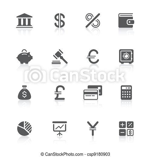 finance icons - csp9180903