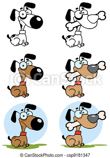 Dog With Big Bone.Collection - csp9181347