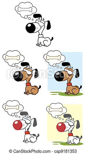 Dogs Dreaming About A Bone - csp9181353