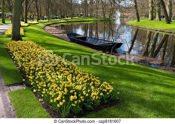 tulip garden in Keukenhof, Netherlands - csp9181607